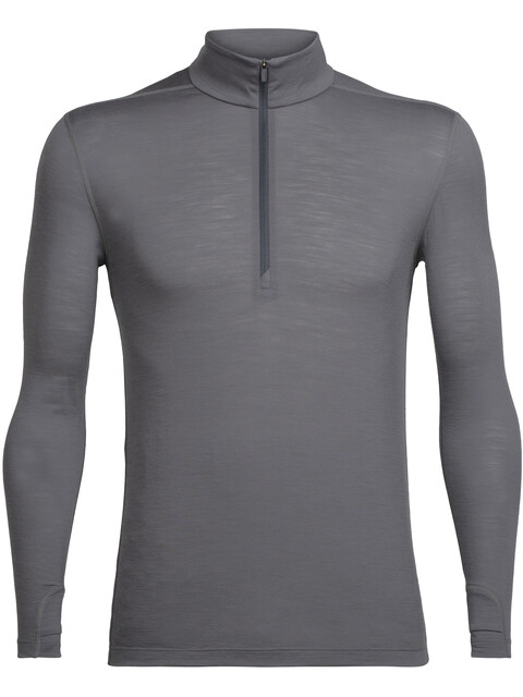 Icebreaker M's Zeal LS Half Zip Shirt metal/monsoon